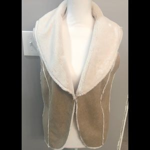 Olive & Oak Suede and Faux Fir Vest